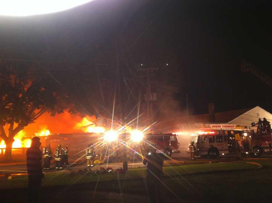 Beach Club fire at Conneaut Lake Park