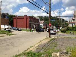 A man was found shot to death Thursday afternoon behind the wheel of an SUV on North Murtland Street in Homewood.