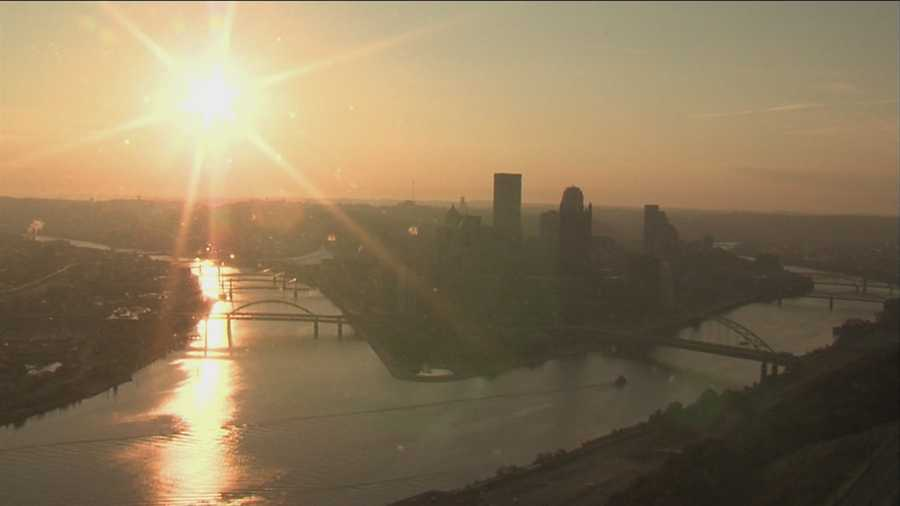Here's a morning weather picture -- one last look at the city before you leave. Good luck, Demetrius!