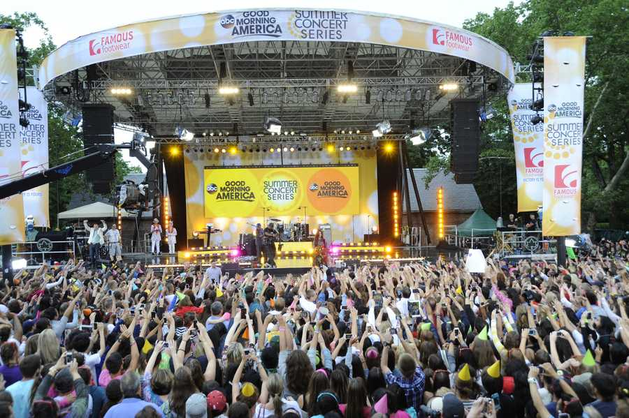Selena Gomez celebrated her 21st birthday with a concert in Central Park as part of the GMA Summer Concert Series, on GOOD MORNING AMERICA.
