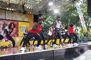 """Ne-Yo performs live in Central Park as part of the GMA Summer Concert Series, on """"Good Morning America,"""" 8/2/13. (Photo by ABC/Fred Lee)"""
