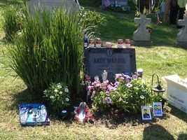 Fans left items at Andy Warhol's grave at St. John the Baptist Byzantine Catholic Cemetery in Bethel Park on what would have been his 85th birthday.