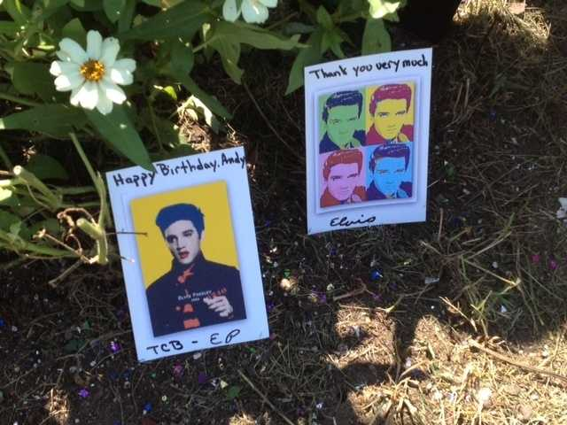 The Andy Warhol Museum had a webcam focused on the gravesite that streamed live video all day.