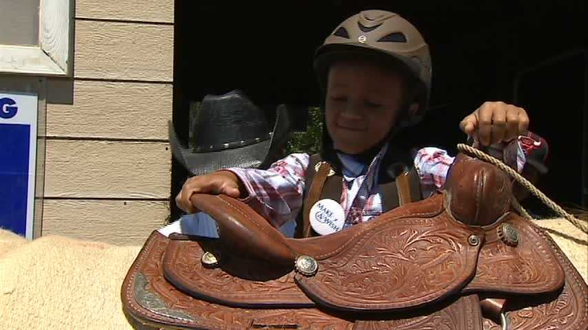 He saddled up at Oak Hill Farm to learn what it takes to be a cowboy.
