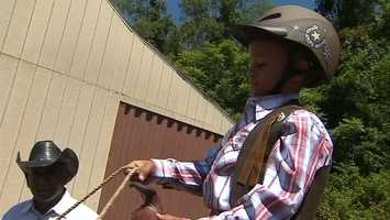 """Video: Watch more from Noah's day at """"Cowboy School"""""""