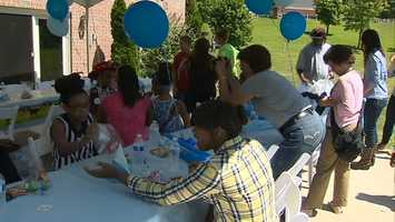 Noah's day as a cowboy concluded with an ice cream social with family and friends.