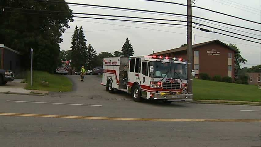 A fire started Wednesday morning in a kitchen at a Monroeville apartment complex.