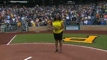 Andrew McCutchen may be the All-Star center fielder of the Pittsburgh Pirates, but it was his mom who took center stage Wednesday night.