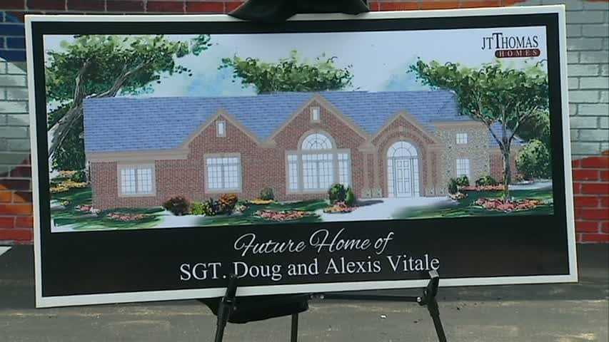 Vitale and his wife, Alexis, also got a first look at an artist sketch of what their new Smart House will look like. It will be specially designed to make daily life easier for the couple.