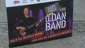 There's also benefit concert Friday night at Stage AE featuring Gary Sinise's Lt. Dan Band. Tickets are $35 and proceeds will go to help pay for the new house.