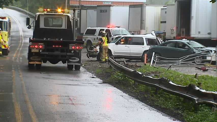 A car collided with an SUV on Route 30 in Irwin about 6:30 a.m.