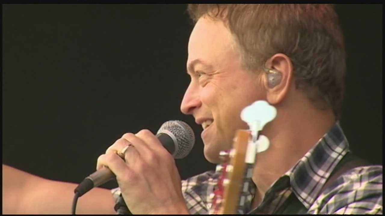 Gary Sinise and his Lt. Dan Band played for local hero, injured Marine Doug Vitale.