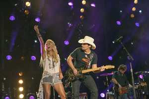 "CARRIE UNDERWOOD & BRAD PAISLEY - The summer's hottest television music event, ""CMA Music Festival: Country's Night to Rock,"""