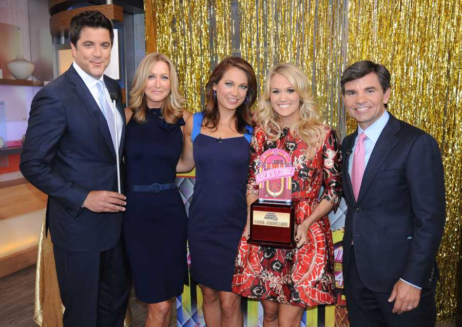 "Carrie Underwood co-hosted ""Good Morning America,"" on August 12, 2013. (Photo: ABC/Donna Svennevik)"