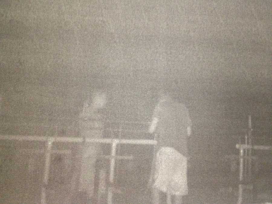These are surveillance video images from a trail cam that was set up by Greater Latrobe High School.