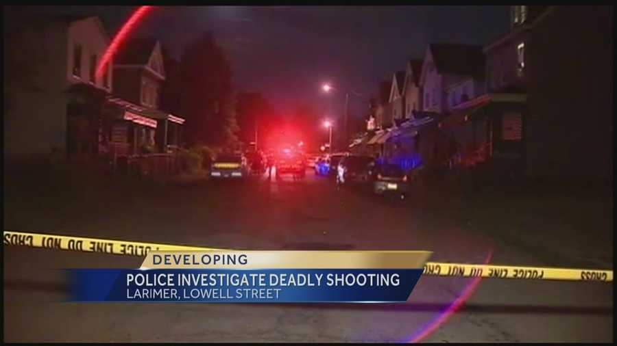 Pittsburgh police say a man was visiting a house in Larimer when an unknown person opened a door and fired shots, hitting him multiple times.