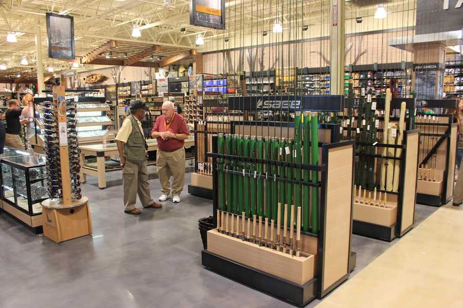 The 50,000-square-foot store was formerly a Dick's Sporting Goods that was converted to fit the Field & Stream concept.
