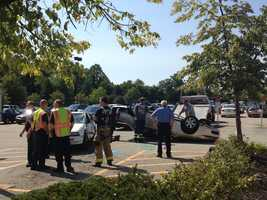 The crash happened in the parking lot on Monroeville Boulevard.