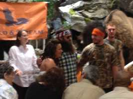 "Meghan Cook's dream was to walk down the aisle to duck calls. Her wish was granted, and then some. Willie Robertson, star of A&E's  ""Duck Dynasty"" surprised his super fans Cook and Charlie Miller by attending their wedding at the new Field & Stream store in Cranberry Township on Saturday."