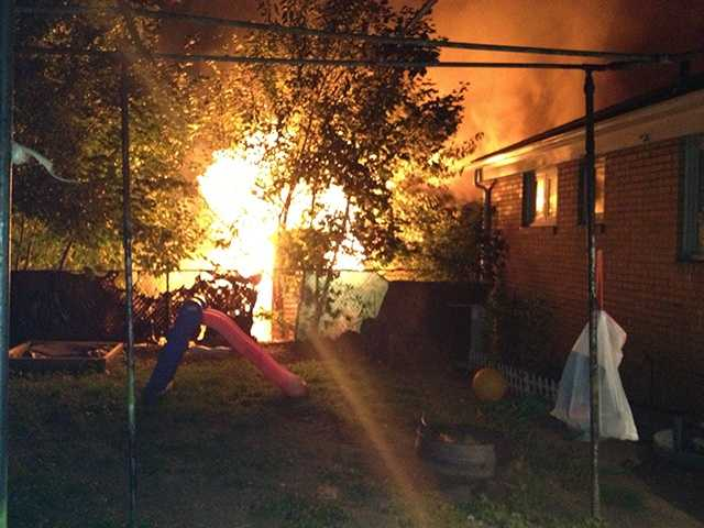 Two adults and two children got out of the Pittsburgh home safely, fire officials said.