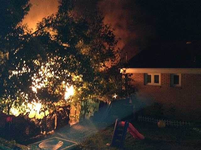 A fire broke out at a house on Griffin Street in Mount Washington around 7:15 a.m. Sunday, officials said.