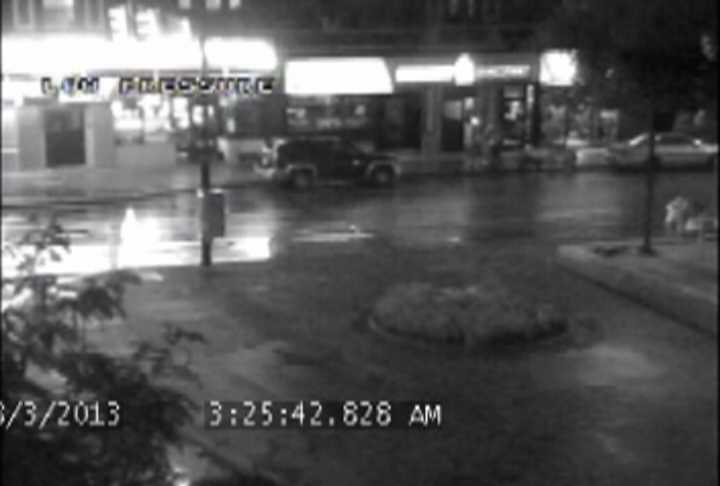 Here is a frame-by-frame look at the surveillance video, with timestamps in chronological order at the bottom of the screen. (Some frames include graphics that were added by the DA's office.)
