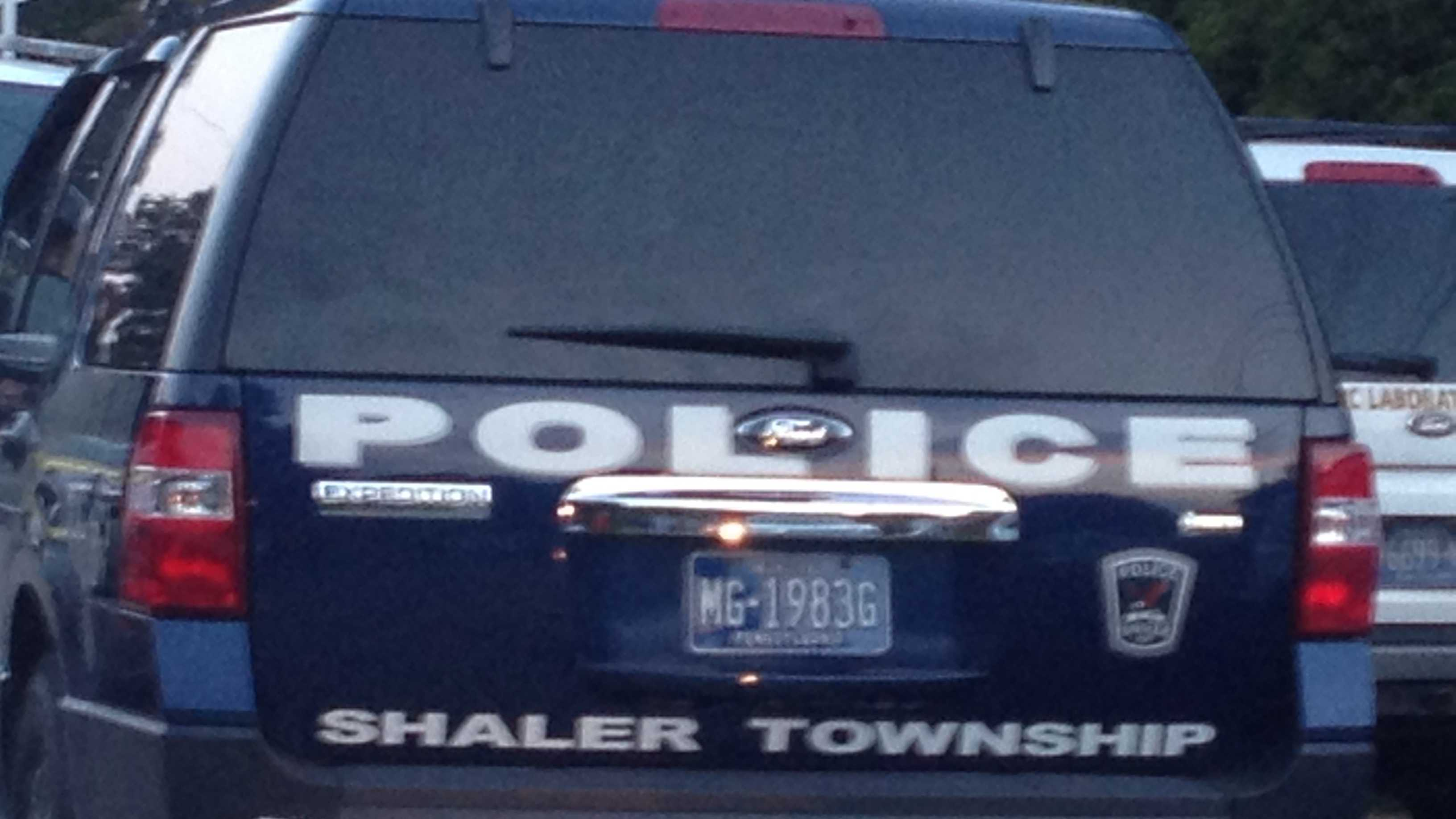 A Shaler Township police vehicle.