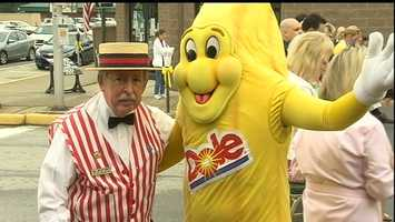 A weekend-long celebration with plenty of activities began Friday in the downtown Latrobe area that's decorated with banana balloons, yellow ribbons and bows.