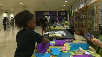Students also received backpacks, school supplies and T-shirts.