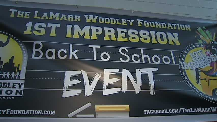 Woodley teamed up with the Summer Dreamers Academy and A+ Schools for the 1st Impression Back To School Event for Pittsburgh Public Schools students in grades K-8.