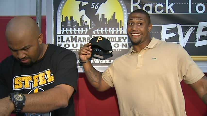 Steelers linebacker LaMarr Woodley is helping to send students back to school in style this year.