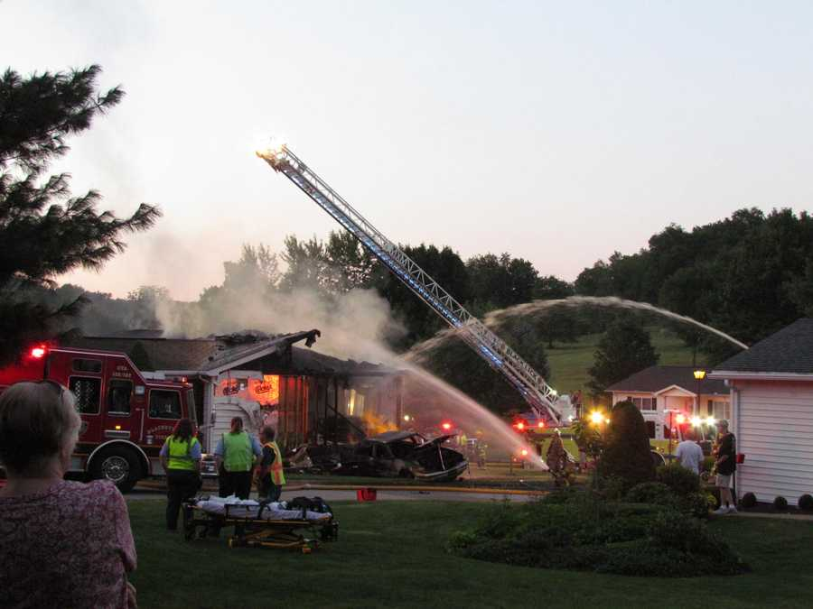 Firefighters worked quickly to shut the gas off, but the flames rapidly engulfed the house.