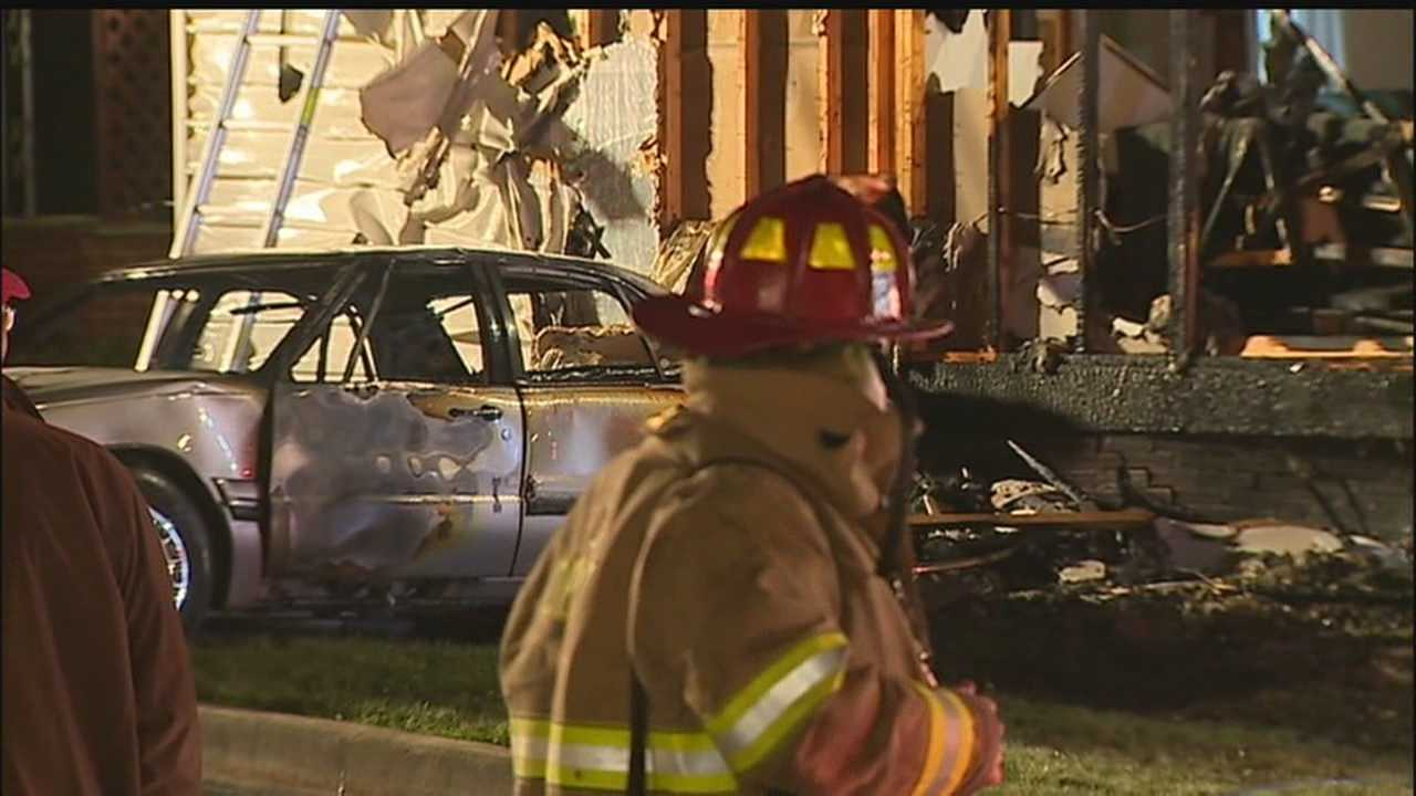 House, car ignite when driver backs into neighbor's gas meter