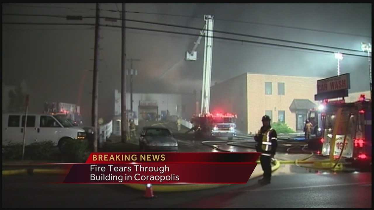 Over 100 firefighters were called out to bulding fire that houses a car wash, auto shop, and laundromat.  Action News Ashlie Hardway has the latest.
