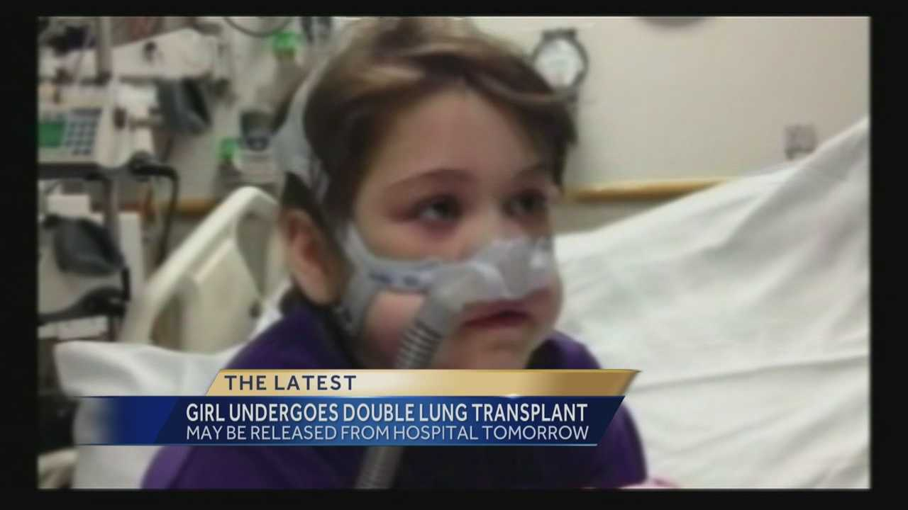 A 10-year-old Pennsylvania girl recovering from two double lung transplants is expected to be released from the hospital this week, a spokeswoman for the girl's family said Monday.