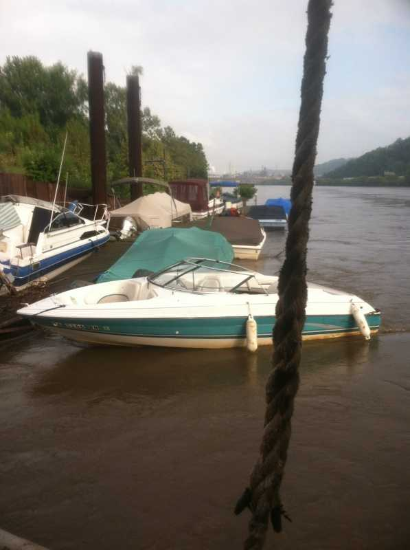Lucjack and his deckhand, Brent Telegdy, pulled the boats over to a landing in Duquesne, tied them up and waited for the owners to show up. Most of the boats appeared to be OK.