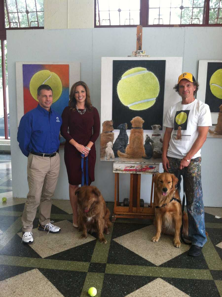"""Mosser said the success of his first painting inspired him to do another one. """"It was awesome, and everybody knew about it, thousands of shares, but I wanted to take advantage of that viral phenomenon and do some good."""""""
