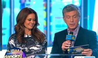 """""""DWTS"""" host Tom Bergeron and co-host Brooke Burke revealed the new cast members one by one."""