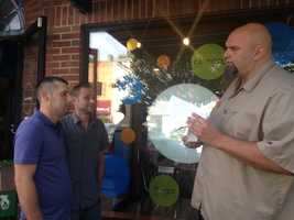 Braddock Mayor John Fetterman married Jaime and Jason at Square Cafe in Regent Square.