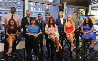 """The cast of Season 17 of """"Dancing With The Stars"""" is announced live on """"Good Morning America,"""" 9/4/13..."""