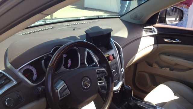 inside of driverless car (no caption)