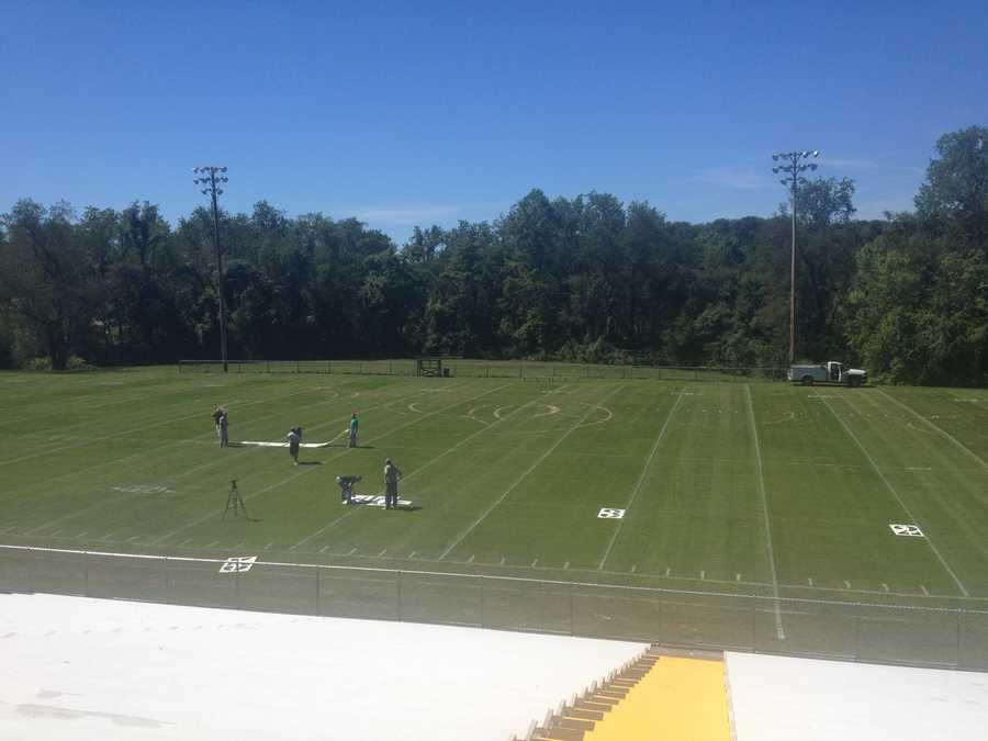 Repairs have been taking place all week at Redstone Field to get it ready for Brownsville Area's first football game of the season.