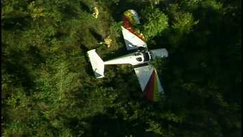 Beaver County Sheriff George David said the aircraft had just taken off when it experienced engine trouble. David said the pilot turned the plane around as the engine sputtered. He tried to make it back to the runway but was unable to do so, and crash-landed into trees on airport property.