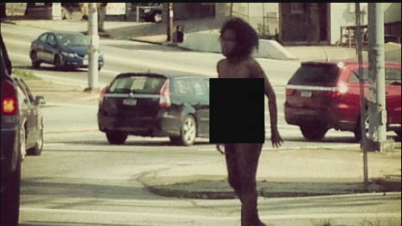 Witnesses called Pittsburgh police after seeing a nude woman asking for help on Main Street in Bloomfield.