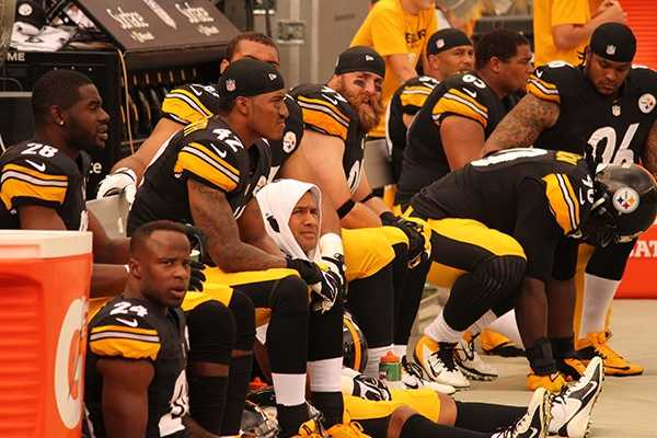 The expressions on the Pittsburgh sideline ranged from stunned to frustrated.