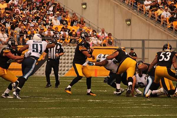 Roethlisberger was largely ineffective all day until the Steelers put together a 75-yard scoring drive with a no-huddle offense near the end of the game.