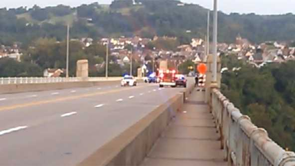 Police activity on the George Westinghouse Bridge.