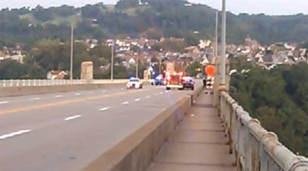 Police activity on the George Westinghouse Bridge.