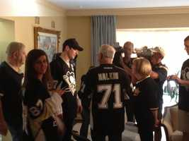 Several other players, including Evgeni Malkin, Kris Letang and Marc-Andre Fleury, also delivered tickets to fans.