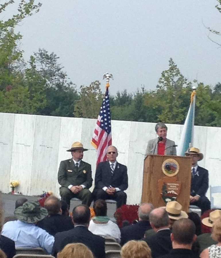 Secretary of the Interior Sally Jewell cried as she gave an address in Shanksville on the 12th anniversary of theFlight 93 hijacking.